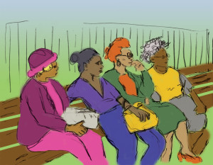 Park Bench Ladies